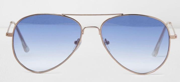 river-island-blue-Blue-Tinted-Lenses-Aviator-Sunglasses