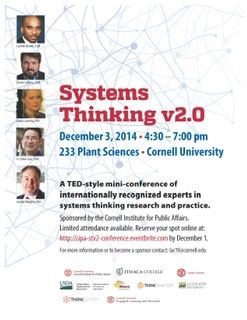 Cornell University sponsors Systems Thinking v2.0 Conference